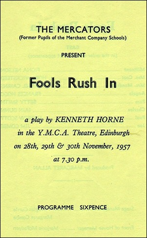 "Programme for ""Fools Rush In"""