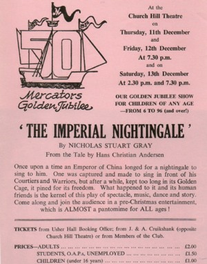 "Flyer for ""The Imperial Nightingale"""