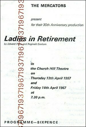 "Programme for ""Ladies in Retirement"""