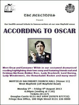 "Flyer for ""According to Oscar"""