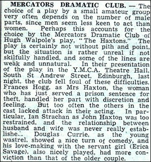 "Newspaper review of ""The Haxtons"""