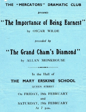 "Flyer for ""The Grand Cham's Diamond"" & ""The Importance of Being Earnest"""