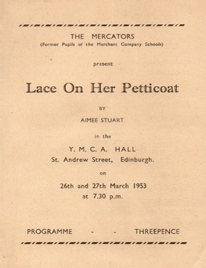 "Programme for ""Lace On Her Petticoat"""