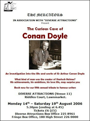 "Flyer for ""The Curious Case of Conan Doyle"""
