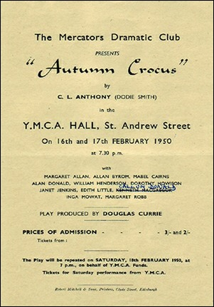 "Handbill for ""Autumn Crocus"""
