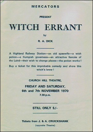 "Handbill for ""Witch Errant"""