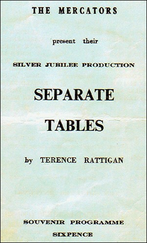 "Programme cover for ""Separate Tables"""
