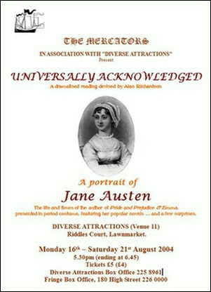 "Flyer for ""Universally Acknowledged"""
