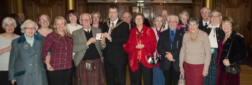 Presentation of British Empire Medal to Douglas Currie - 2013