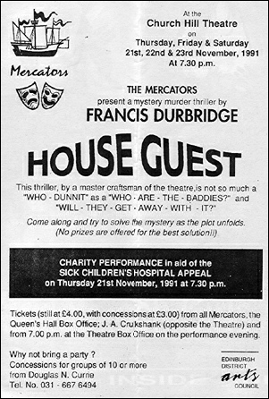 "Flyer for ""House Guest"""