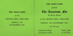 "Ticket for ""The Anastasia File"""
