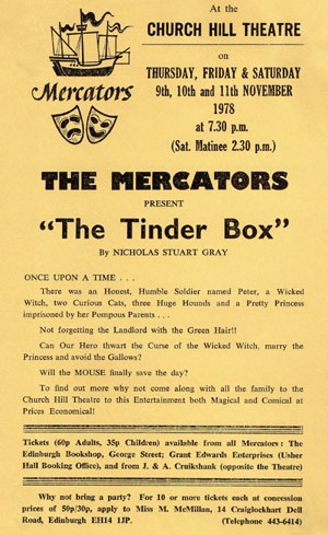 "Flyer for ""The Tinderbox"""