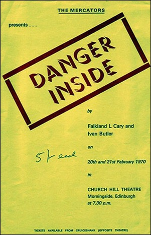"Flyer for ""Danger Inside"""