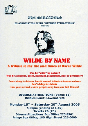 "Flyer for ""Wilde by Name"""