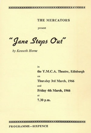 "Programme for ""Jane Steps Out"""