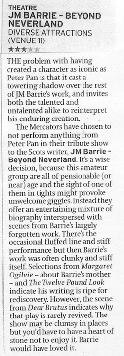 J.M. Barrie - Beyond Neverland - Review