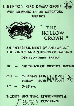 "Flyer for ""The Hollow Crown"""
