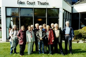Outside the Eden Court Theatre in Iverness at the Scottish Finals