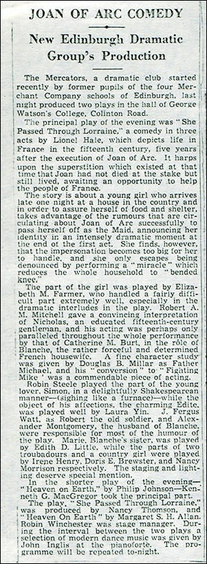 Newspaper review of March 1037 production