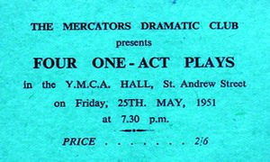 "Ticket for ""Four One Act Plays"""