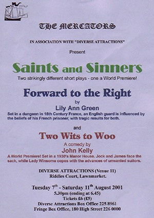 "Flyer for ""Saints and Sinners"""