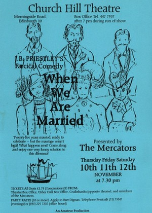 "Flyer for ""When We Are Married"""