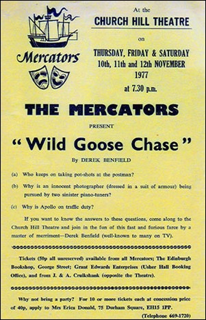 "Flyer for ""Wild Goose Chase"""
