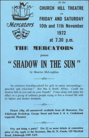 "Flyer for ""Shadow In The Sun"""